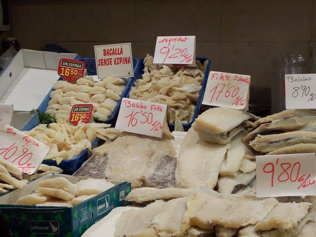 Many, many varieties of salted cod...