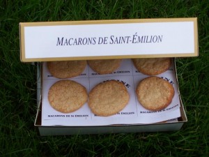 St Emillion Macarons box interior, Bordeaux