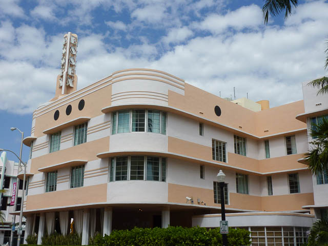 Art Deco Peach, South Beach Miami