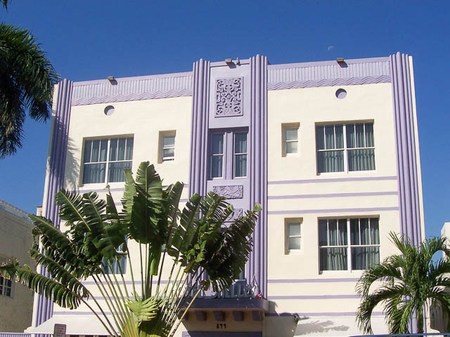 Art Deco Purple, South Beach Miami