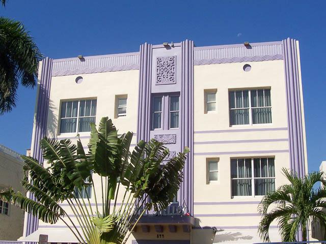 Art Deco Purple, South Beach Miami