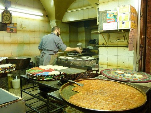 Aleppo souk - pastry maker 1