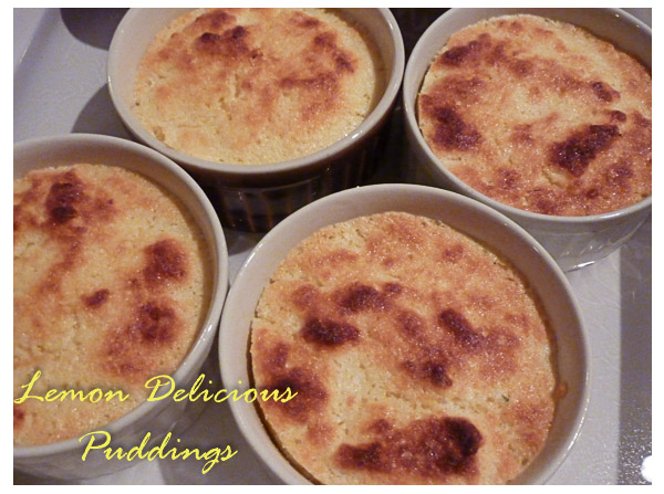 Lemon Delicious Puddings Cooked