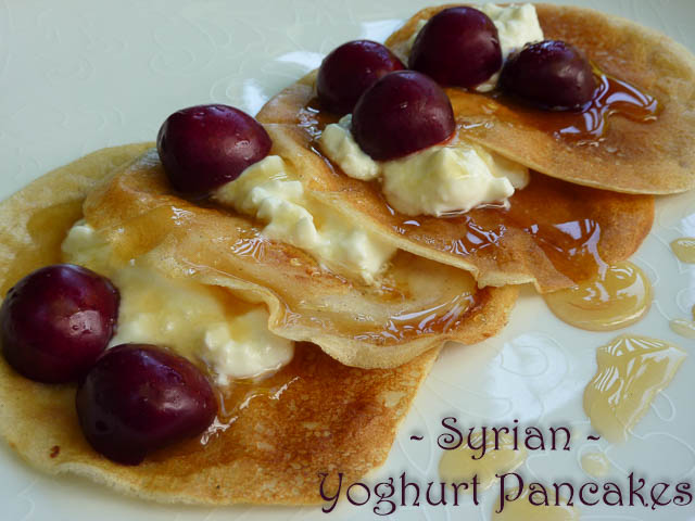 Syrian Pancakes on a Sunday Morning