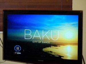 Screenshot of Eurovision tv broadcast: Baku - City of Dance