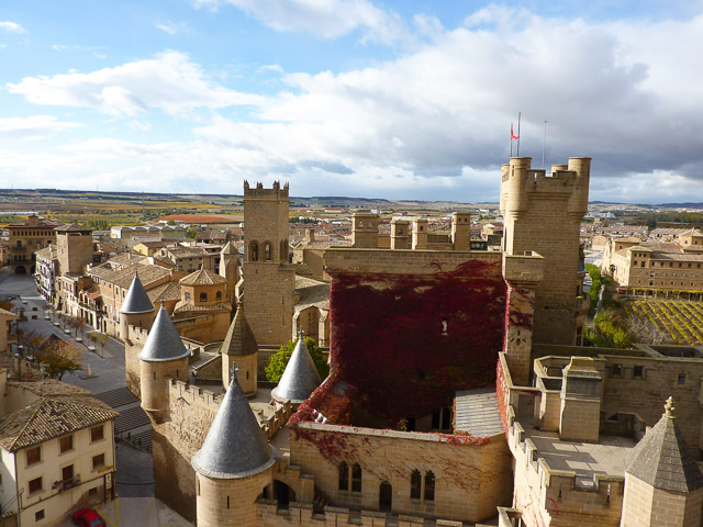 Olite township in Navarra, Spain
