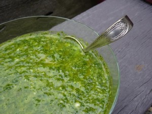 Chimichurri close up