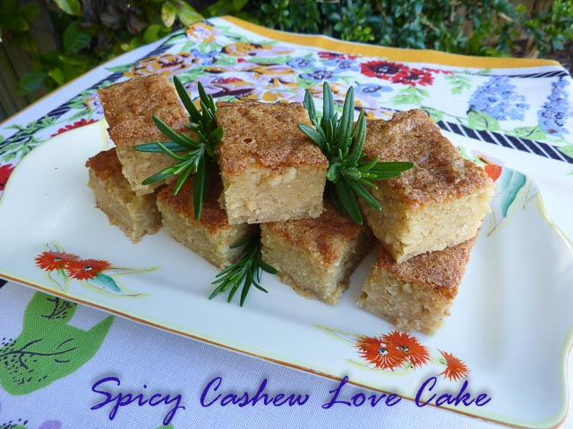 Spicy Cashew Love Cake 1