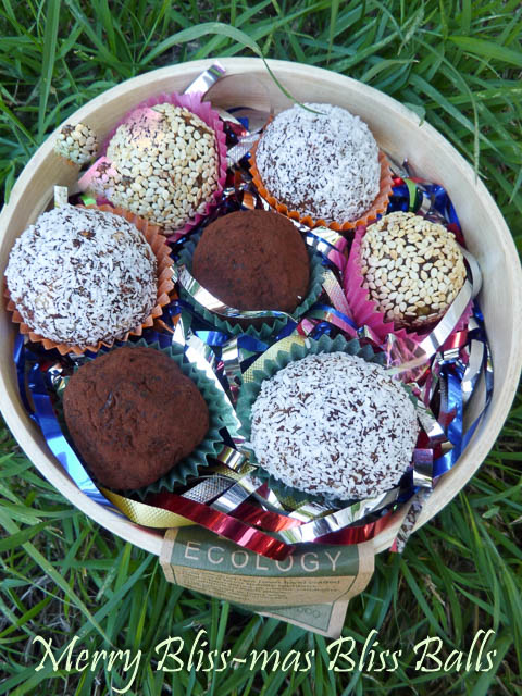 Bliss Balls Recipe. Merry Bliss-mas!