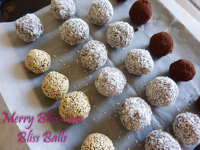 Bliss Balls on tray
