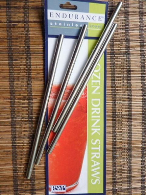 four steel straws