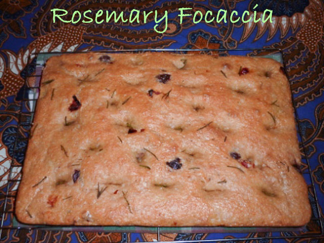 Rosemary Foccaccia fresh from the oven