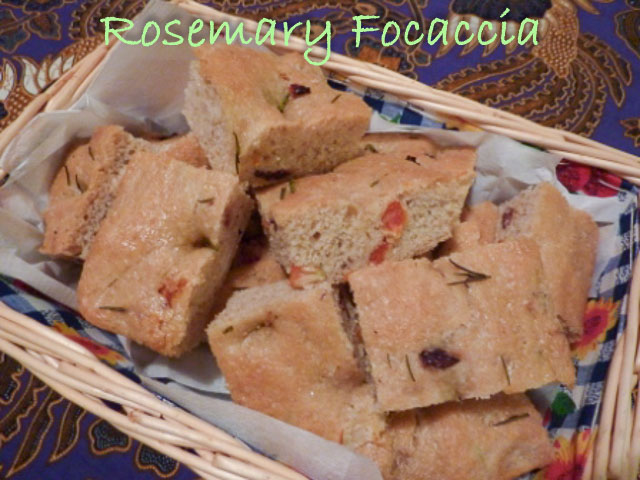 Rosemary Foccaccia sliced