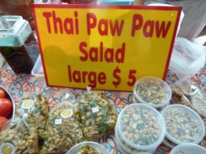 Rapid paw paw salad sign