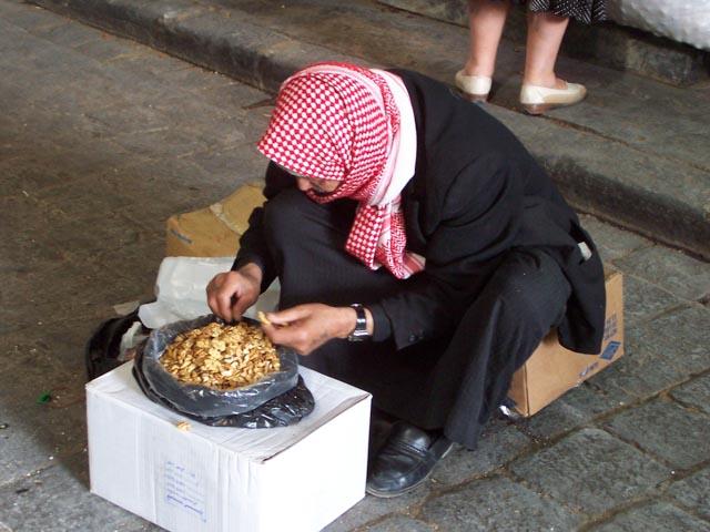 Shelling Walnuts - Damascus, Syria...
