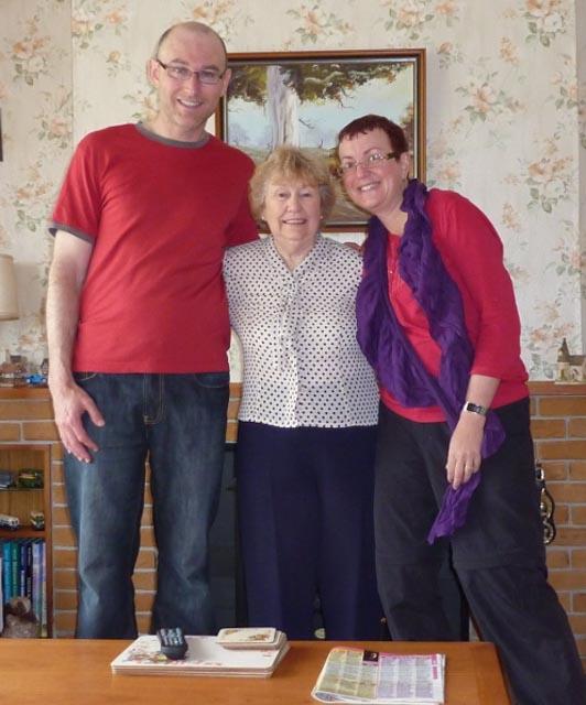 Anthony, Aunty Marjorie & Fiona...