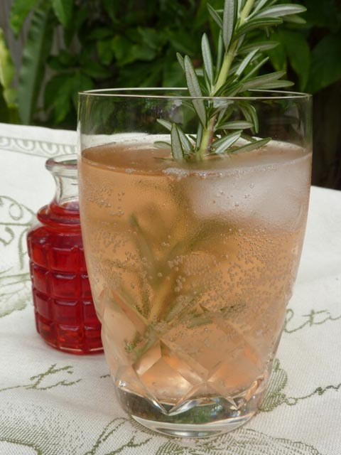 Strawberry & Rosemary Shrub