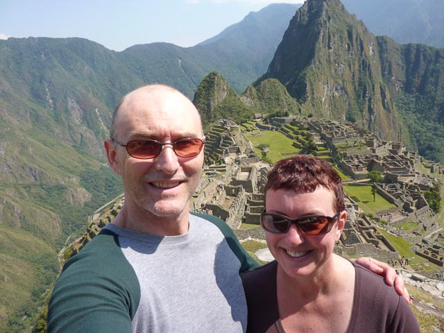 Fiona & Anthony at Machu Picchu, Peru