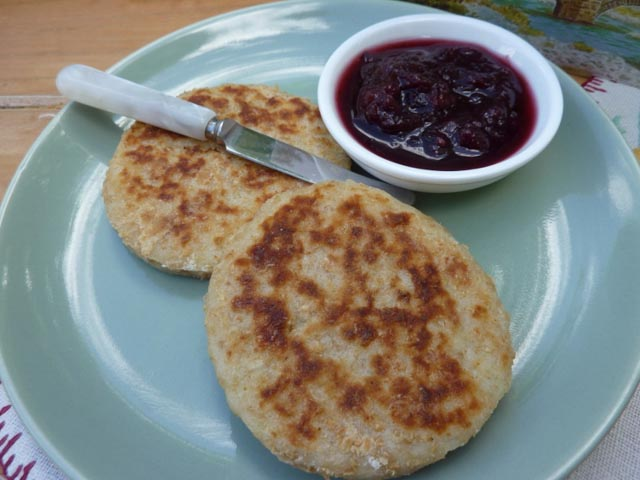 Welsh Potato Cakes with Jam