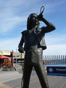 Bon Scott statue in Fremantle, WA
