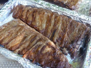 Slow cooker ribs cooked but unglazed