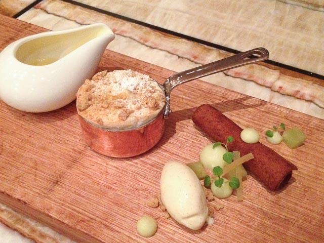 Apple Crumble, Cinnamon Anglaise & Vanilla Bean Ice-Cream