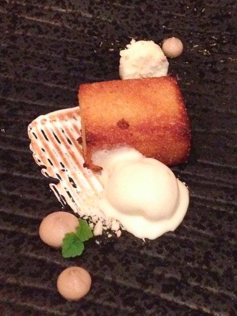 Sticky Polenta & Almond Scorched Buttermilk Ice-Cream