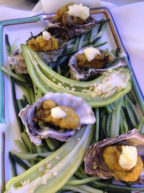 Wasabi Tempura Oysters...
