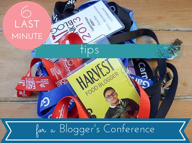 6 Last Minute Conference Tips