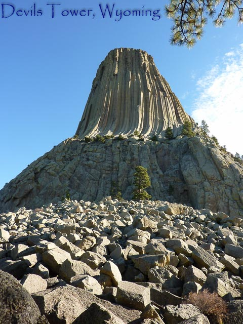 Devils Tower in daylight