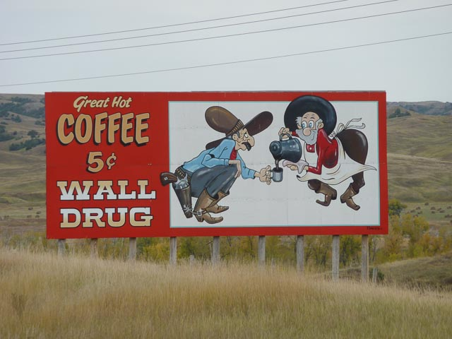 Sth Dakota, Wall Drug Great Hot Coffee 1