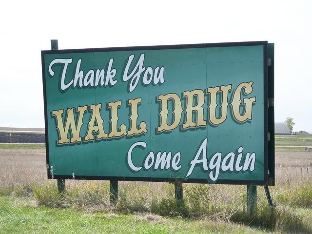 Sth Dakota, Wall Drug Thank You