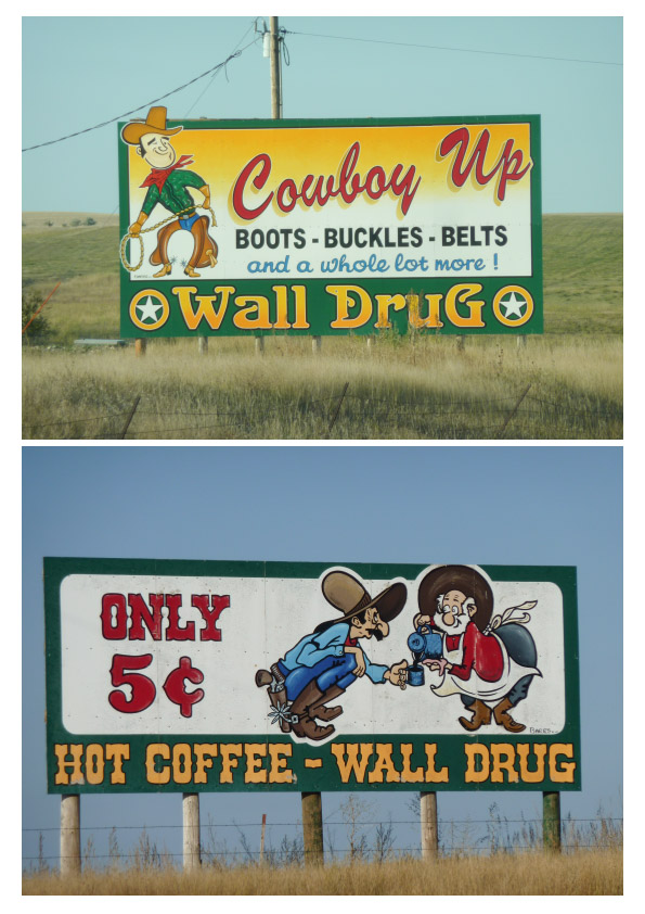 Wall Drug signs pair 1