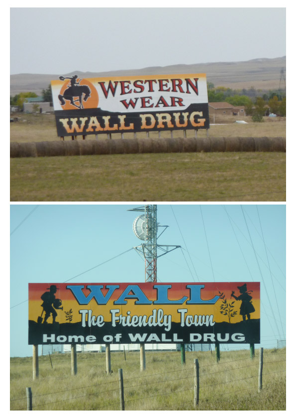 Wall Drug signs pair 2