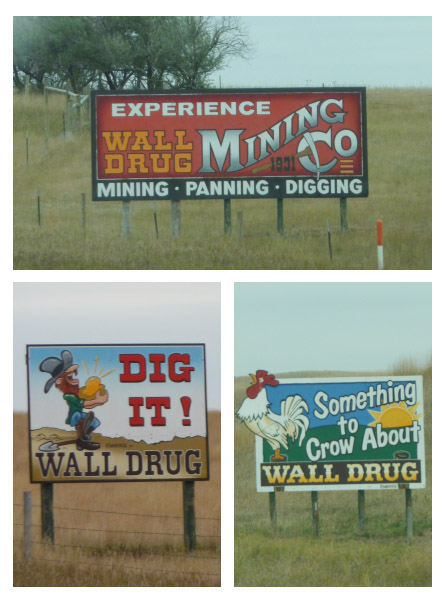Wall Drug signs pair 3