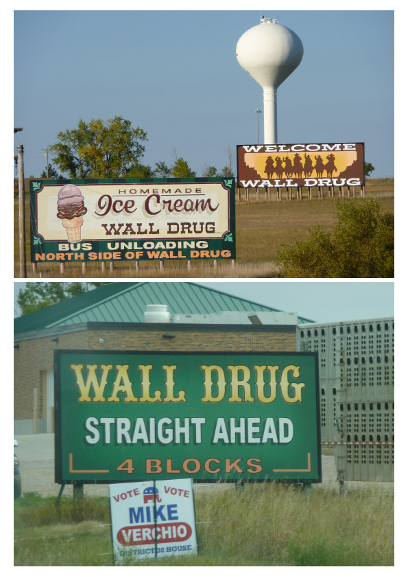 Wall Drug signs pair 6