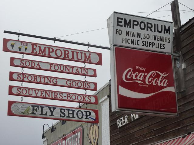 Victor, Emporium sign