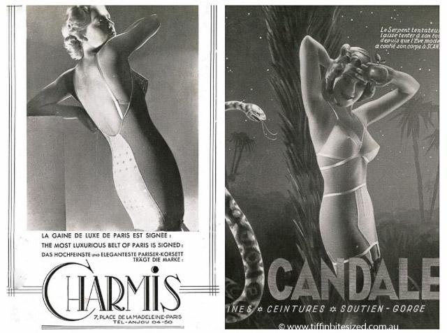 vintage lingerie advertising