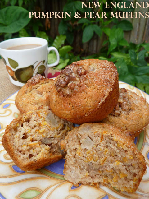 New England Pumpkin & Pear Muffins – Perfect For A 'Weather Event'