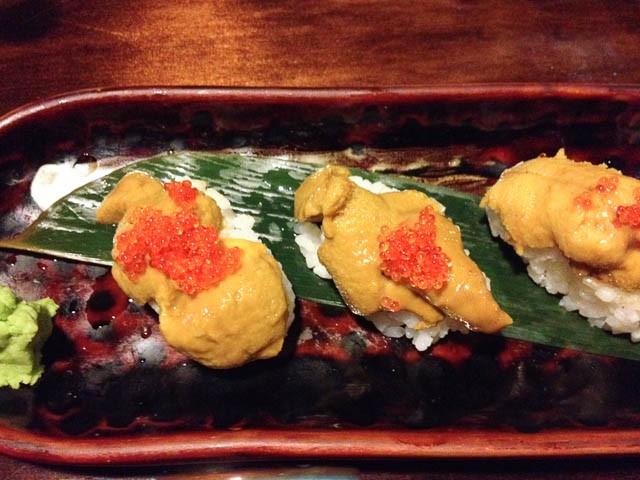 Sea Urchin Sushi