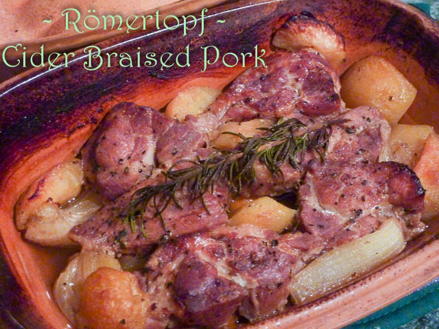 Cider Braised Pork cooked