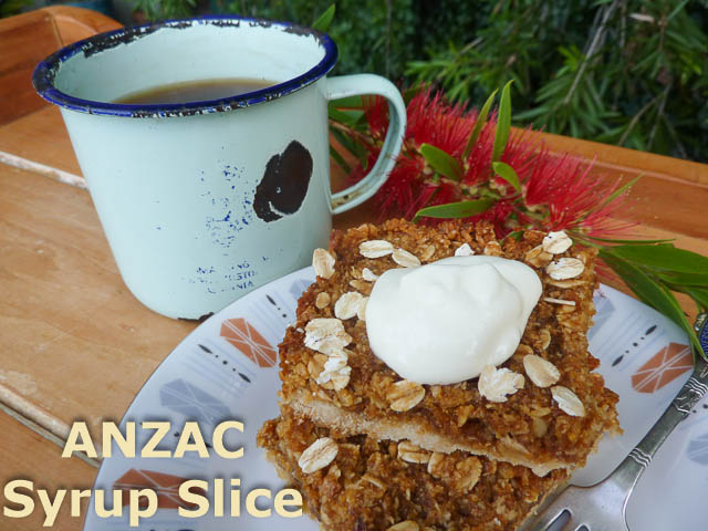 ANZAC Syrup Slice