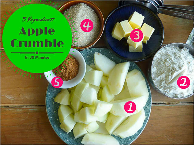 5 Ingredient Apple Crumble in 30 Mins