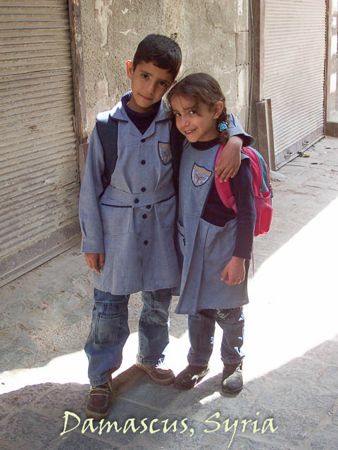 Syria, Damascus - local school schildren