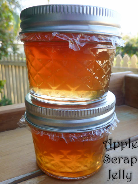 Apple Scrap Jelly Jars