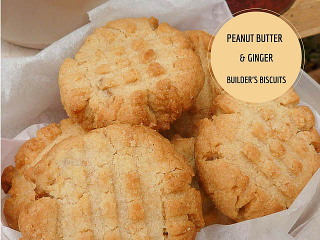 Peanut & Ginger Builders Biscuits