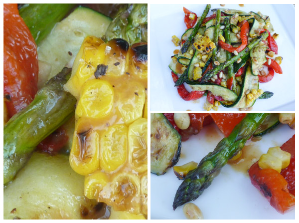 Grilled Vege Salad trio