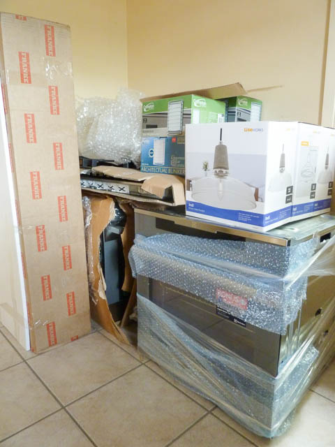 Kitchen Equipment waiting to be installed
