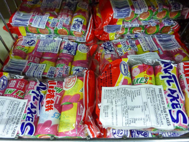 Packets of Chinese Haw Flakes plum confectionary