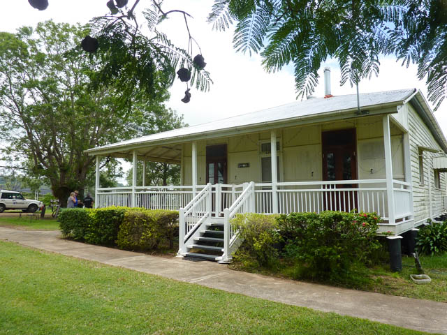Bunjurgen Bellbrook Homestead - a classic wooden Queenslander with wide porches. Typical of old houses n the Scenic Rim